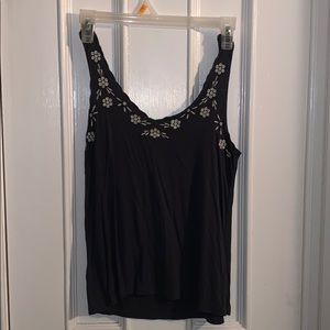 Grey embroidered American Eagle tank top